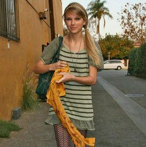 Asymmetric mustard floral cardigan Taylor Swift